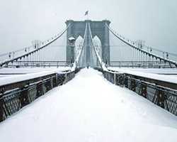 Brooklyn Bridge Snowcovered