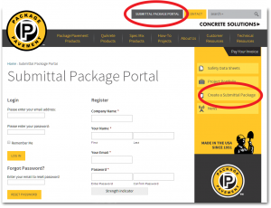 Submittal Package Portal_Setup